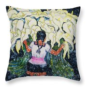 Diego's Calla Throw Pillow