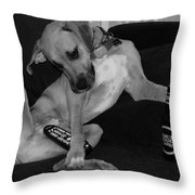 Diesel In Black And White Throw Pillow