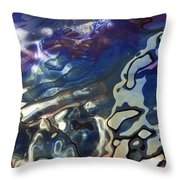 Diesel Oil Spill From Boats In Harbor Throw Pillow