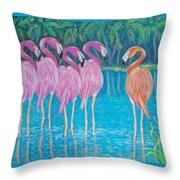 Different But Alike Throw Pillow