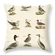 Different Kinds Of Waterbirds Throw Pillow