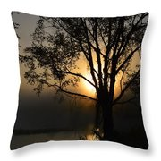 Diffused Glow Throw Pillow