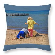 Digging Deep Throw Pillow