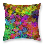 Digiral Abstract Colors Rich Throw Pillow