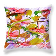 Digital Abstract 3 Throw Pillow