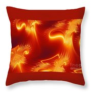 Digital Abstract Cello Music Throw Pillow by Peter R Nicholls