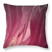 Digital Abstract Peony Throw Pillow