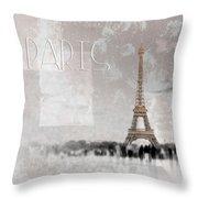 Digital-art Eiffel Tower II Throw Pillow
