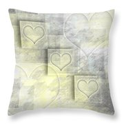 Digital-art Hearts II Throw Pillow