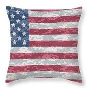 Digital Camo Us Flag Throw Pillow