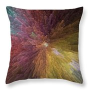 Digital Crystal Art Throw Pillow