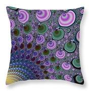 Digital Fractal Artwork Beautiful Colors Throw Pillow