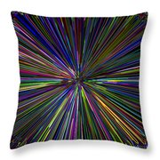 Digital Infinity Abstract Throw Pillow