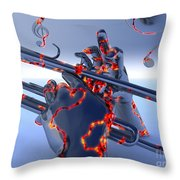 Digital Jazz Throw Pillow