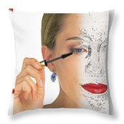 Abstract Make Up Throw Pillow