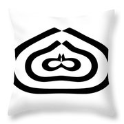 Digital Mono 12 Throw Pillow