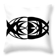 Digital Mono 13 Throw Pillow