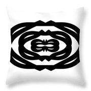 Digital Mono 14 Throw Pillow