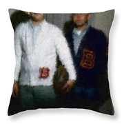 Digital Painting The Lettermen Throw Pillow