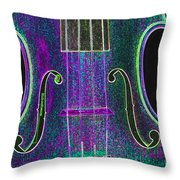 Digital Photograph Of A Viola Violin Middle 3374.03 Throw Pillow