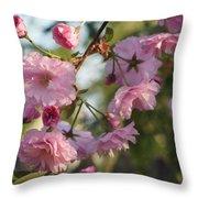 Digital Spring Throw Pillow