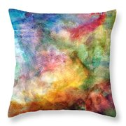 Digital Watercolor Abstract Throw Pillow