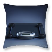 Digital Weighing Scales Throw Pillow