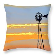 Digital Windmill-horizontal Throw Pillow