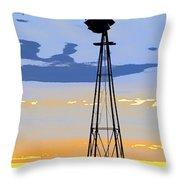 Digital Windmill-vertical Throw Pillow