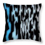Digital Zebra Coat Throw Pillow