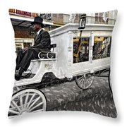 Dignified Departure Paint 2 Throw Pillow