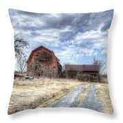 Dilapidated Barn Throw Pillow