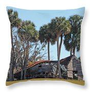 Dilapidated Old Barn - 1 Throw Pillow