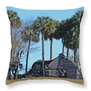 Dilapidated Old Barn - 2 Throw Pillow