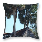 Dilapidated Old Barn - 3 Throw Pillow