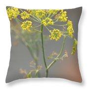 Dill Blossom Throw Pillow