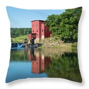 Dillard Mill At Dillard Mill State Throw Pillow