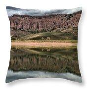 Dillon Pinnacles In Blue Mesa Throw Pillow
