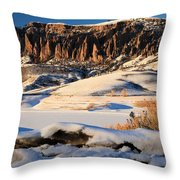 Dillon Pinnacles Sunset Throw Pillow