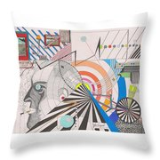 Dimension  Throw Pillow by John Wiegand