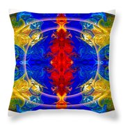 Dimensional Eyesight Abstract Living Artwork By Omaste Witkowski Throw Pillow