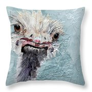 Dimples - An Ostrich Throw Pillow