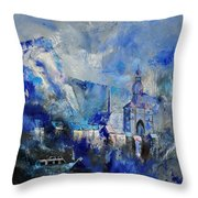 Dinant In Blue Throw Pillow