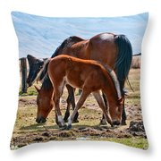 Dine With Me Throw Pillow