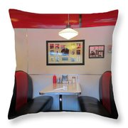 Diner Booth Throw Pillow