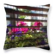 Diner Flowers Throw Pillow