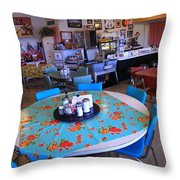Diner On Route 66 Throw Pillow