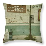 Diner Rules Throw Pillow