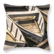 Dinghies Dockside Faded Throw Pillow
