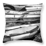 Dinghies - Perkins Cove Maine Throw Pillow